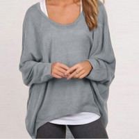 Oversize casual long sleeved sweater 16091202A