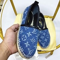 LV Shoes Louis Vuitton Women Fashion Monogram Sandals Crowbody Blue