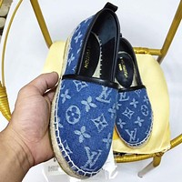 Hipgirls LV Shoes Louis Vuitton Women Fashion Monogram Sandals Crowbody Blue