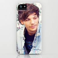 Louis Tomlinson; Floral iPhone & iPod Case by Valerie Hoffmann