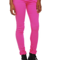 Hell Bunny Pink Levine Skinny Jeans
