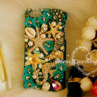 iphone 5s case, iphone 5c case, iphone 5, ipod touch 5 case, ipod touch 4 case, bling ipod touch 4 case, seahorse starfish iphone 4 case