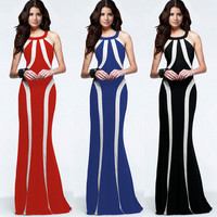 Womens Beautiful Evening Gown Slim Long Elegant Dress