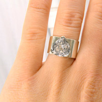 Engagement Ring in White Sapphire, 10 mm Trillion Setting in Sterling Silver, Engagement on a Budget, Diamond Alternative Engagement Ring