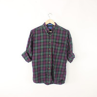 Vintage Pendleton Green and Red Flannel M