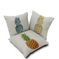 Pineapple Pattern Summer Fashion Style Lovely Women and Men Gift - Pillowcase  = 4697449156