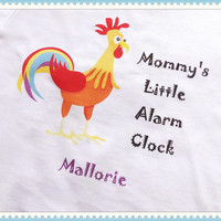 Funny Baby Clothes, Personalized Baby Clothes, Gender Neutral Bodysuit, Baby girl Bodysuit, Baby Boy Rooster Bodysuit, Newborn Farm Outfit