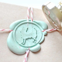 Chihuahua Dog Lover Gold Plated Wax Seal Stamp x 1
