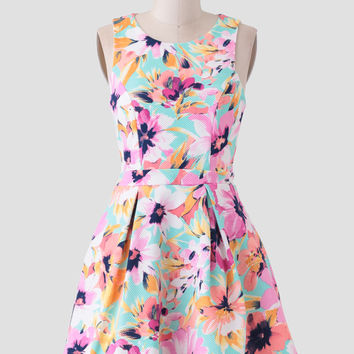 A Sight To See Floral Dress