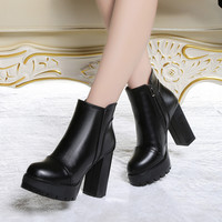 Hot Deal On Sale Zippers Winter Shoes High Heel Boots [9257224012]