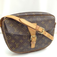 Auth Louis Vuitton Monogram Jeune Fille GM Shoulder Bag Brown 7K290200#