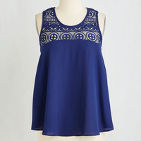 Mid-length Sleeveless How Crete It Is Top by ModCloth