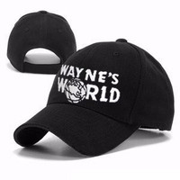 [FLASH SALE] Wayne's World Hat Costume Waynes World Cap Baseball Hat New Free Shipping