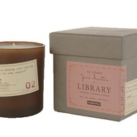 Paddywax Candles Library Collection Jan Austen Soy Wax Candle, 6.5-Ounce (Gardenia, Tuberose, Jasmine)