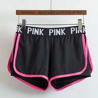 Victoria's Secret PINK Women Fashion Sport Elastic Shorts
