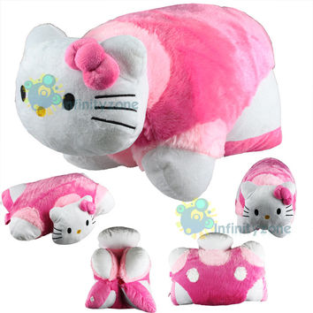 NEW Hello Kitty Transforming Pet Car Sofa Pillow Cushion Soft Plush Doll Toy