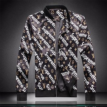 Boys & Men Louis Vuitton LV x Supreme Cardigan Jacket Coat