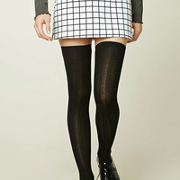 Ribbed Knit Over-the-Knee Socks