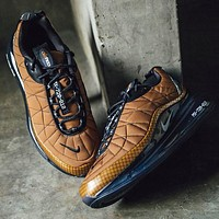 Bunchsun NIKE MAX-720-818 Trending Knit Line Shoe Plaid Shoes Sneakers Brown