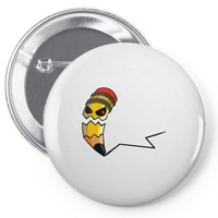 pencil monster Pin-back button