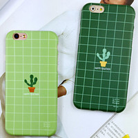 Non-slip Cactus iPhone 6 6s iPhone 6 6s Plus Case Originality Cover + Gift Box 418