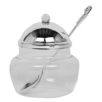 Honey Dish Silver Plated With Spoon