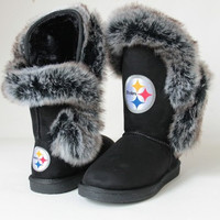 "Pittsburgh Steelers Women's Cuce Official NFL ""Champions"" Boots"