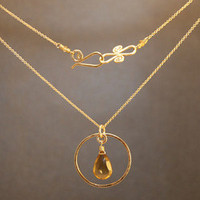 Necklace 311 - choice of stone - SILVER