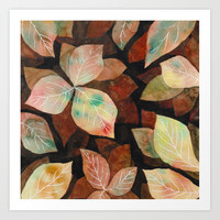 Autumn vibes Art Print by vivigonzalezart