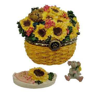 Boyds Bears Resin EDMUNDS SUNNY BASKET W/ POTTER MCNIBBLE Special Edition 82537