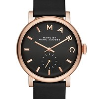 MARC BY MARC JACOBS 'Baker' Leather Strap Watch, 37mm (Nordstrom Exclusive)