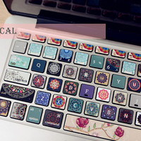 macbook sticker macbook decal macbook skin keyboard decal skin macbook air 11/13 mackbook pro/retina 13/15