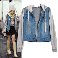 High Quality Fashion Women  Denim Coat Hoodie Jackets Women Jeans Vintage Jeans Jacket SV006799 = 5709321217
