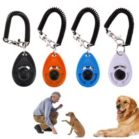 1pc Universal Animal Pet Trainer Pet Dog Training Clicker Adjustable Sound Key Chain Dog Clicker Dog Trainings Products Supplies