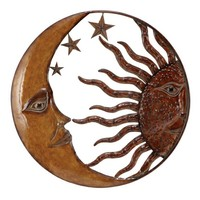 A.M.B. Furniture & Design :: Accessories :: Wall Art & Clocks :: Copper Sun Moon & Star Wall Art Decor Sculpture