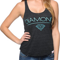 Diamond Supply Co Girls White Space Charcoal Racerback Tank Top