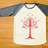 Red Tree T-Shirt Lord of The Rings T-Shirt Gondor Shirt Long Sleeve Tee Shirt Women Shirt Men Shirt Unisex Shirt Baseball Tee Shirt S,M,L