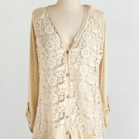 Festival Mid-length Long Sleeve Button Down Return of the Macchiato Cardigan