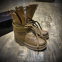 Newest Nike SF Air Force 1 High AF1 Beige Functional Boots Dark Brown AA1128-204