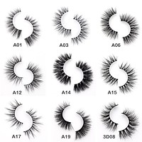 3D Mink Eyelashes Crossing Mink Lashes Hand Made Full Strip Eye Lashes 34 Styles Package