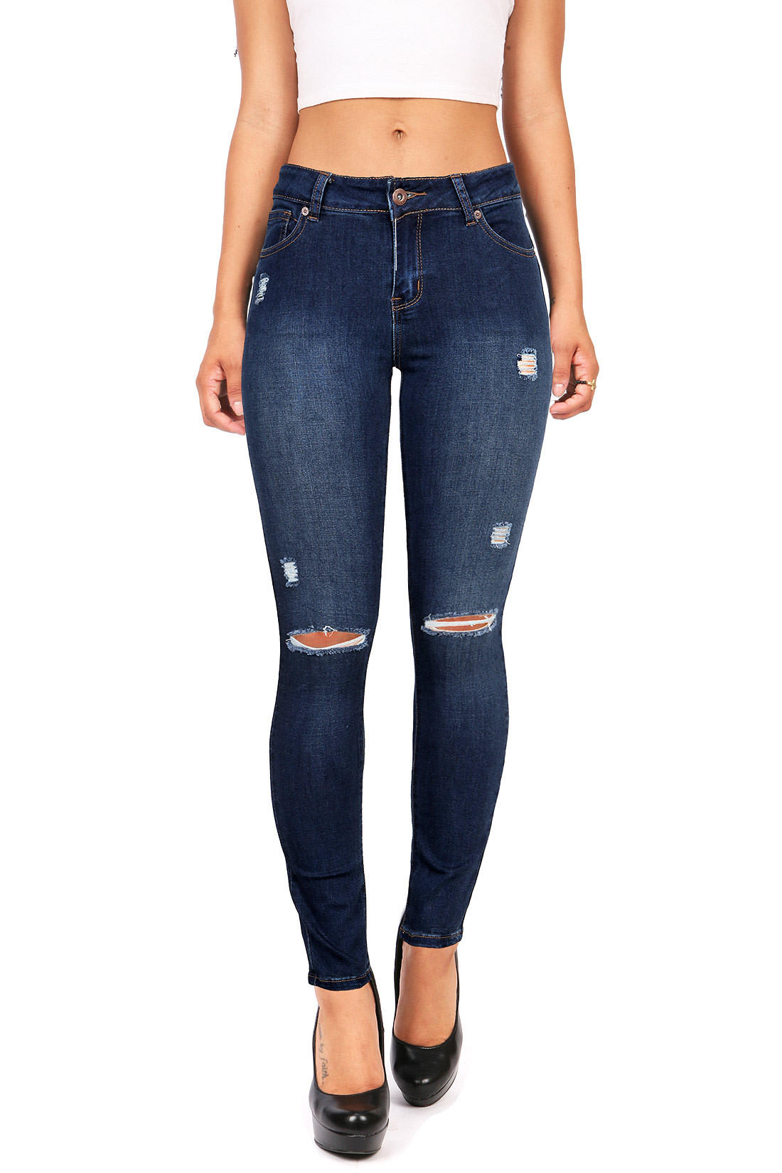 Image of Distressed Maddy Skinny Jeans