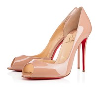 Christian Louboutin CL Demi You Nude Patent Leather 100mm Stiletto Heel Fw15 Best Deal Online