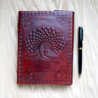 Peacock Handmade Leather Journal