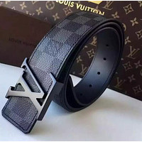 LOUIS VUITTON BELT GENUINE LEATHER BELT MEN WOMEN
