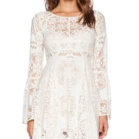 Free People Lover's Folk Song Dress in Cream