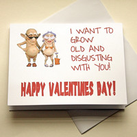 Valentines Card, Naughty Card, Dirty Card, Funny Card, Old Couple Card, Card For Wife, Card For Husband, Card For Boyfriend, Adult Humor