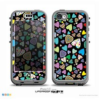 The Bright-Colored Knit Pattern on Black Skin for the iPhone 5c nüüd LifeProof Case