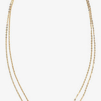 Tiered Pave Chevron Necklace from EXPRESS
