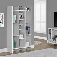 "White Hollow-Core 60"" Horizontal / Vertical Etagere"