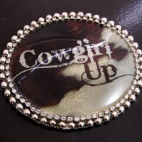 Cowgirl Up Belt Buckle and Belt